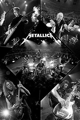 Close Up Póster de Metallica Live/En Vivo (61cm x 91,5cm) + 2 Marcos