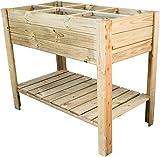Nativ stabiles Hochbeet aus Holz, 110x60 cm, Kräuterbeet für Terrasse und Garten, Gemüsebeet
