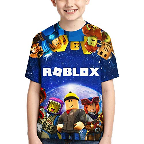 HERSESI Youth T-Shirts 3D Print Boys and Girls Fashion T-Shirts Short Sleeve Anime Cartoon T Shirt 1-XL