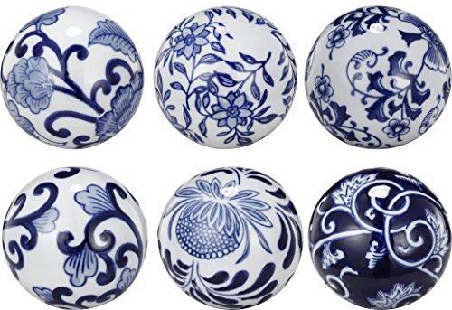 A&B Home Set of 6 Decorative Orbs