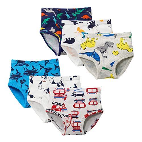 Hey~Yo - Lote de 6 paquetes de ropa interior, algodón de bebé de bambú, bragas de la serie para niños de edad 2-12 multicolor 11-12 años