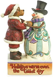 Jim Shore and Boyds Bears Holidays Warm Even The Coldest Day Christmas Figurine