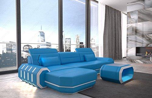 Sofa Dreams Designer Ledersofa Roma als Ecksofa in der L Form