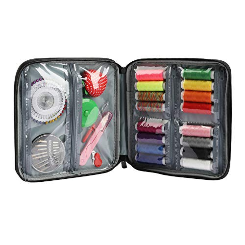 25pcs Kit de Costura Bolsa Suministros de Costura a Mano para Principiantes Herramientas de Costura de Viaje en Casa