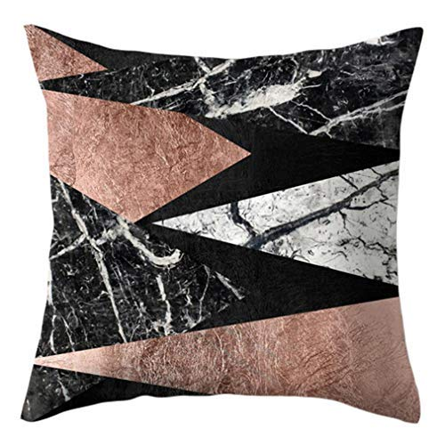 Fundas de almohada cuadradas de mármol negro estilo étnico funda de cojín para sofá, cama, sofá, decoración del hogar, funda de almohada decorativa de 45 x 45 cm, 2 #