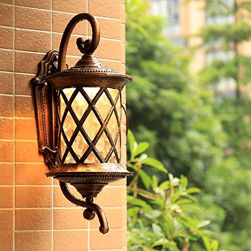 LCSD Lámpara de pared para exteriores, resistente al agua, exterior, para la pared, para la villa, iluminación creativa, escalera, pasillo, balcón, lu...