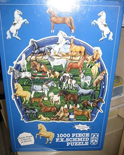 Horsing Around 1000 Piece F.x. Schmid Puzzle by F.X. Schmid