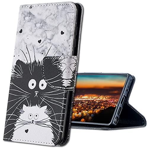 MRSTER Cover per Samsung Galaxy J6+ (2018), Moda Bello Custodia a Libro in Pelle PU Flip Portafoglio Custodia Shockproof Resistente Case per Samsung Galaxy J6 Plus 2018. HX Cute Totoro