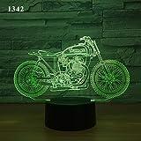 3D Nachtlicht Anime 7 Farbwechsel Motorrad Motorrad Led Touch Und Fernschalter Schreibtischlampe Geburtstagsgeschenk