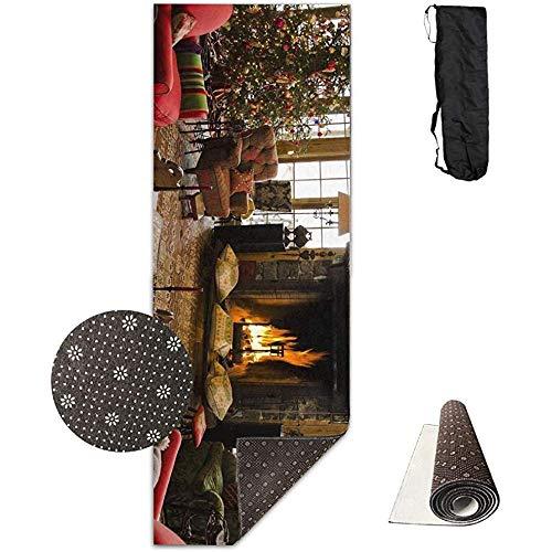 KDU Fashion Yoga Mat,Tanne Kamin Weihnachten Home Comfort Sessel Kreative Neuheit Yoga Fitness Matten Für Fitness Sport