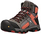 KEEN Utility Men's Davenport Mid Composite Toe Waterproof Work Shoe, Gargoyle/Burnt Ochre, 7 Wide US