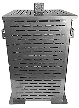 Professional Grade Products 9900000 High Grade Stainless Steel Burn Barrel Incinerator Cage 24  x 14  x 14 ,Large