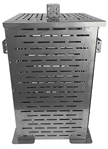"""Professional Grade Products 9900000 High Grade Stainless Steel Burn Barrel Incinerator Cage, 24"""" x 14"""" x 14"""",Large"""