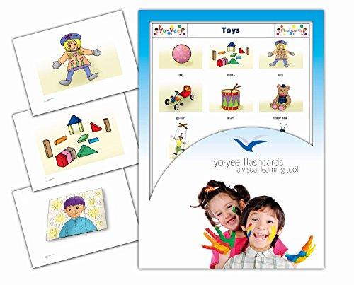 Yo-Yee Flashcards Cartes Images pour l'Encouragement linguistique - Jouets - pour l'enseignement de l'Anglais à la garderie, au Jardin d'Enfants et à l'école Primaire