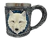 Novedad Blanco Lobo Diseño potable taza
