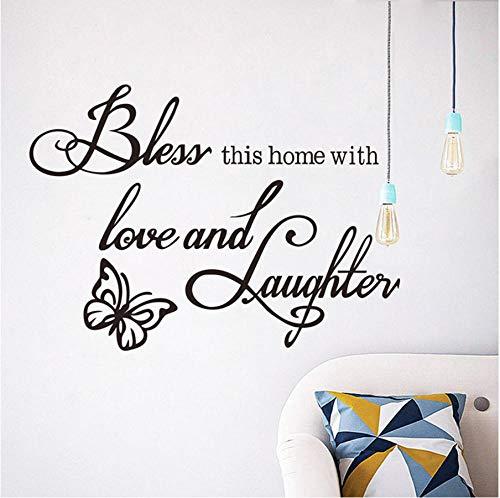 Dormitorio moda inglés letras vinilo calcomanía etiqueta de la pared decoración para el hogar sala de arte cuadros de la pared 51x30 cm