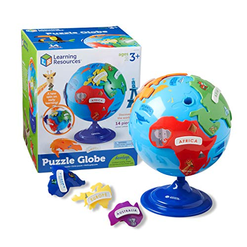 Learning Resources- Globo terráqueo y puzle, Color (LER7735)