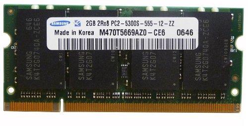 Samsung 2GB DDR2 PC2-5300 200-Pin Laptop SODIMM