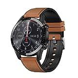 Voigoo Smartwatch Pantalla táctil de 1,3', IP68 Impermeable Reloj Inteligente con ECG,Llamada Bluetooth, Reloj de Fitness con Podómetro Smartwatch Mujer Hombre para iOS Android