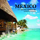 Mexico 7 x 7 Mini Wall Calendar 2021: 16 Month Calendar