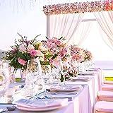 YANGTE Einweg Tischdecke aus Kunststoff 4 Stück,Rosa Plastik Tischtuch Rechteck 137x274cm für Tische im Indoor und Outdoor Partys, Garten, Geburtstage, Hochzeiten, Weihnachten - 9