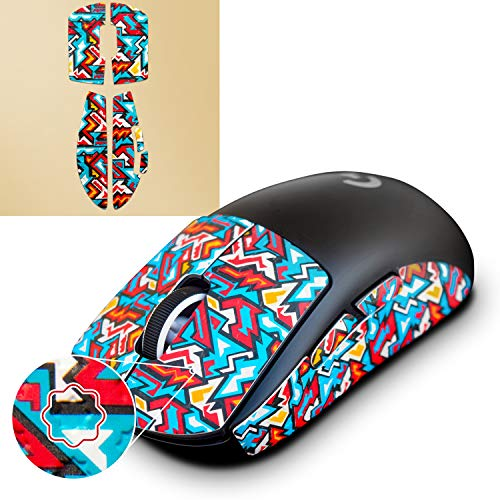 Hotline Games Colorful Mouse Grip Tape for Logitech G PRO X Superlight Wireless Gaming Mouse Anti-Slip Tpae,Non-Fading,Pre-Cut,Easy to Use,Sweat Resistant,Professional Mice Upgrade Kit