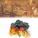 YHWD Piedra calefactora de Sauna de 16-18 kg / 35-40 LB, Piedra volcánica de Sauna Piedra de Sauna para Cuencos de Fuego, fogatas y chimeneas de Interior o Exterior o Estufa de Sauna
