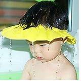 PiniceCore Sichere Shampoo-Dusche Badeschutz Soft-Kappe für Kleinkind, Baby, Kinder & Kinder des Wasser aus den Augen zu halten & Face (gelb)