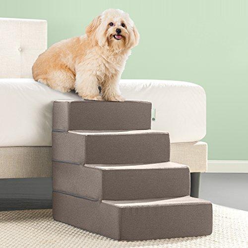 Zinus Easy Pet Stairs / Pet Ramp / Pet Ladder, Large, Sand