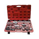 OUKANING Extracteur Injecteurs Coffret d'outils (40 pièces) extracteur d'injecteur Diesel Marteau Coulissant et Adaptateur sur Rail commun