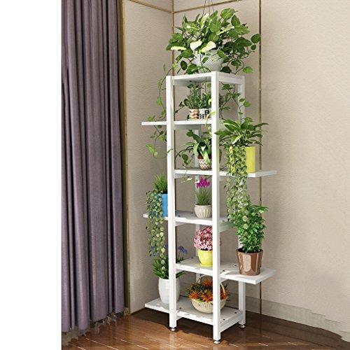 Fleur Étagères d'angle Flower Rack, intérieur Multicouche Salon Balcon Fer créatif Pot étagère, Simple Multi-Chair Vert Moderne Rack (Couleur : 4)