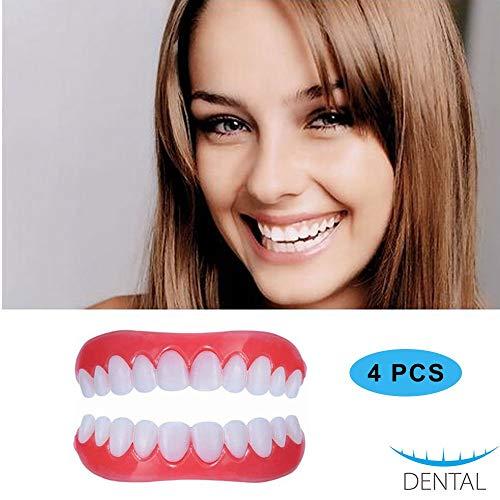 DYSEL Zahnersatz Kosmetische Schöne Zähne Sofortiges Lächeln Perfekte Zahnprothese Natürlich Neue Bequeme Whitening Aufkleber 2 Paar
