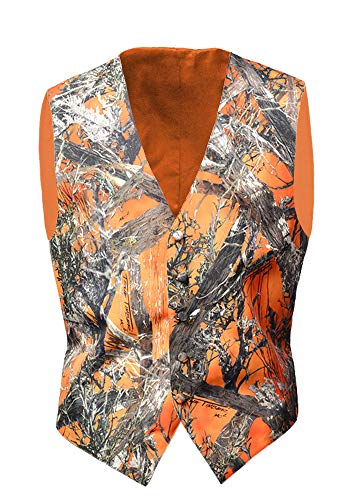 Camo Vests for Men Camouflage Formal Waistcoat Wedding Groom Casual Hunting