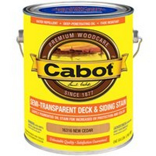 Cabot Semi-Transparent New Cedar Oil-Based Penetrating Oil Deck and Siding Stain 1 gal. - Case of: 4; Each Pack Qty: 1