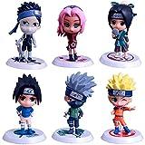 6 Pezzi Cartoon Naruto Action Figure 7.5cm Psychic Beast Cute Gaara Sasuke Kakashi Itachi Ninja PVC Model Collection Statue Kids Toy