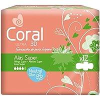 Coral Compresas Coral Ultra Super Alas 12-1 unidad