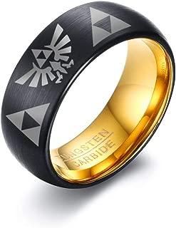 Custom Engraving Men's Tungsten Carbide Ring Wedding Engagement Promise Universary Ring for Men,Men's Jewelry Gift