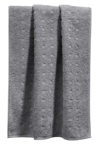 Möve Handtuch Quadretti grau Größe 50x100 cm