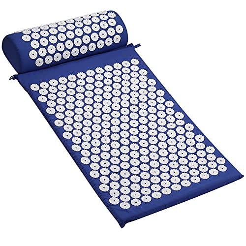 COLFULINE Esterilla Acupresión con bolas de masaje manual Azul