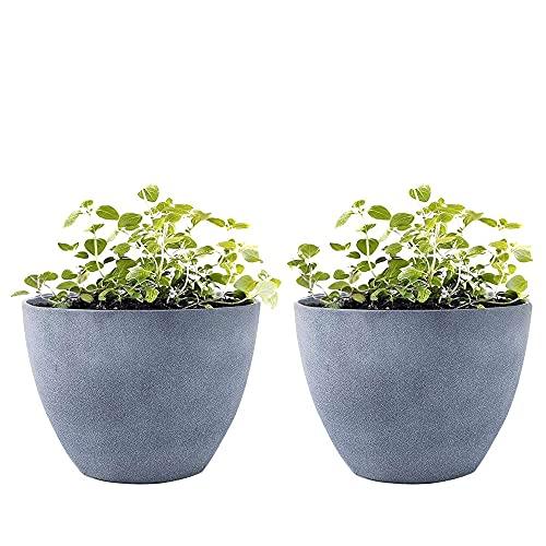 LA JOLIE MUSE Flower Pot Garden Planters Outdoor Indoor, Plant Pots...