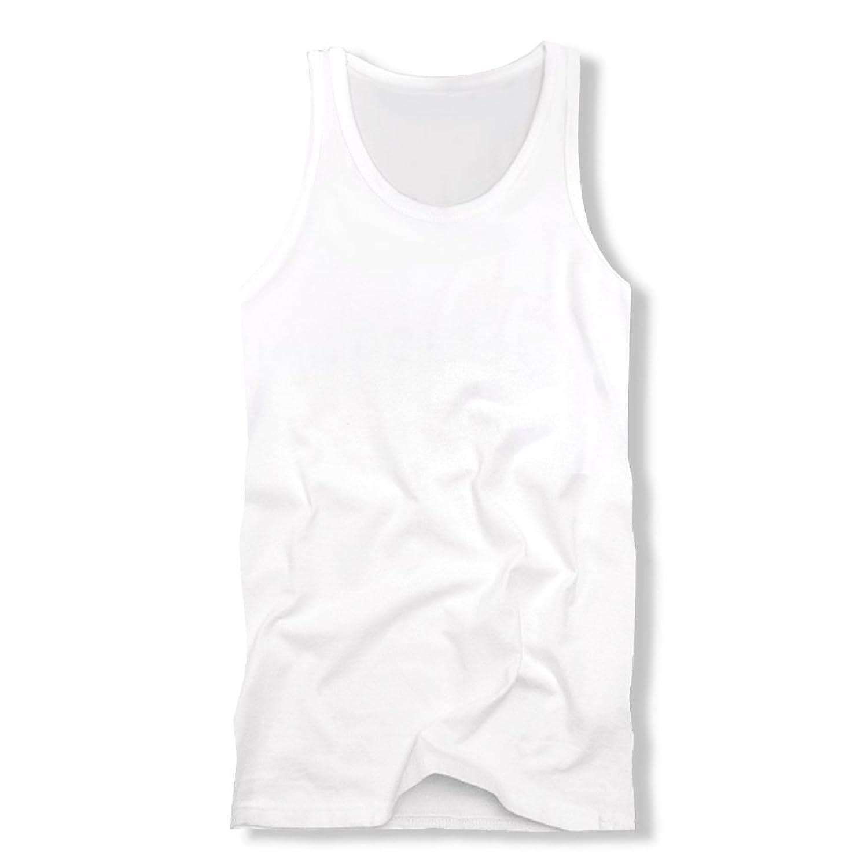 f261[スワンユニオン] swanunion メンズ タンクトップ 無地 ホワイト 白 スリム タイト インナー