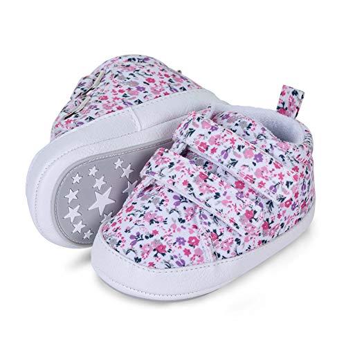 Sterntaler Baby-Schuhe für Mädchen, Klettverschluss, Rutschfeste Sohle, Farbe: Rosa, Größe: 19/20, Art.Nr.: 2302110.0