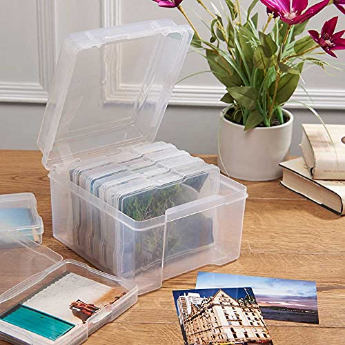 easylife lifestyle solutions Photo Storage Box | 6 polypropylene clip-lock cases | Protect from dust and spills | Keep precious memories safe