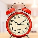 Kmnbgg Pequeño reloj despertador para estudiantes con mesita de noche luminoso niños mudo electrónico creativo personalidad perezoso reloj alarma gran volumen metal Shell