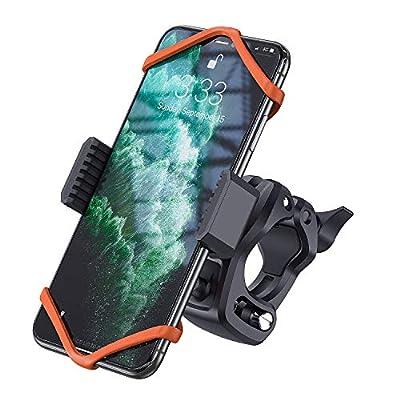 Bike Phone Mount, WixGear Universal Bike Phone Holder and Motorcycle Phone Mount, Phone Holder for Bike Handlebars Adjustable Grip Holder, Fits All Smartphones, Bike Accessories by WizGear
