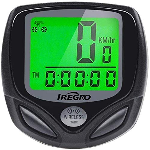 IREGRO Fahrradcomputer Kabellos, IP65 Wasserdicht Fahrrad Computer, 2.5' LCD Display Radcomputer, Fahrrad Tacho, 18 Funktionen Fahrrad Kilometerzähler, für Radsport Realtime Speed Track