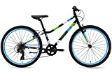 """Guardian Ethos Safer Patented SureStop Brake System 24"""" Kids Bike, Black/Blue/Green"""
