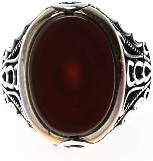 Turkish Silver Ring with Onyx Stone for Men, 1154