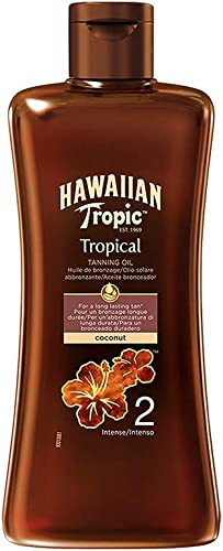 Hawaiian Tropic Tanning Oil Intense - SPF 2 - Olio Solare Abbronzante - 200 ml