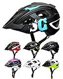 SkullCap® Casco Bici MTB - Uomo e Donna - con Visiero, Taglia L (59-61 cm), Colore: Blu N...
